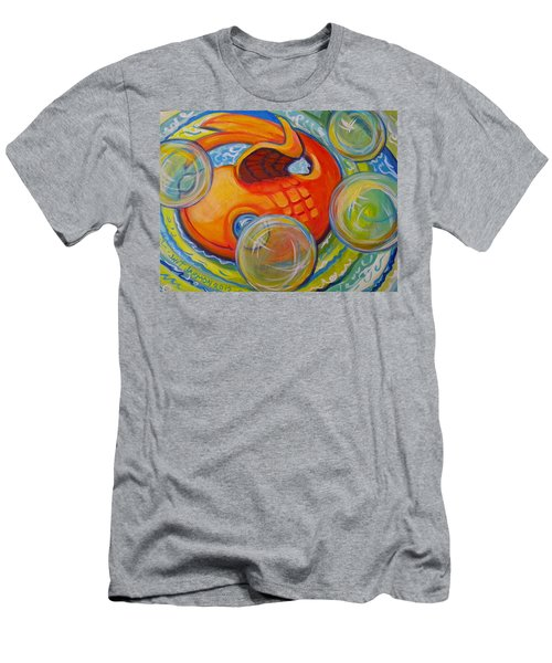 Fish Fun Men's T-Shirt (Slim Fit) by Jeanette Jarmon