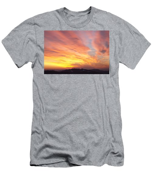 Flaming Sunset Men's T-Shirt (Athletic Fit)