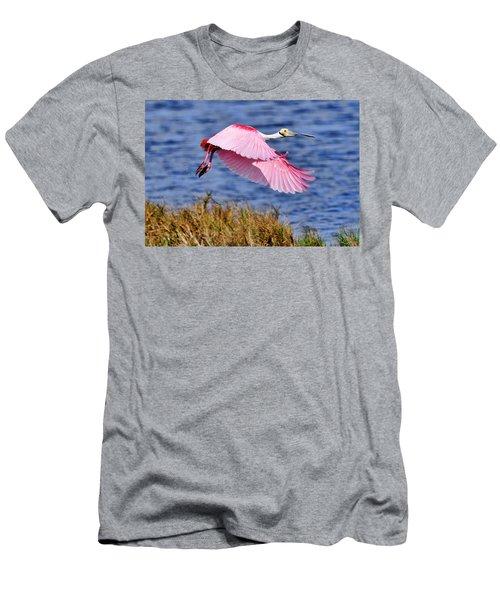 Flight A Roseate Spoonbill Men's T-Shirt (Athletic Fit)