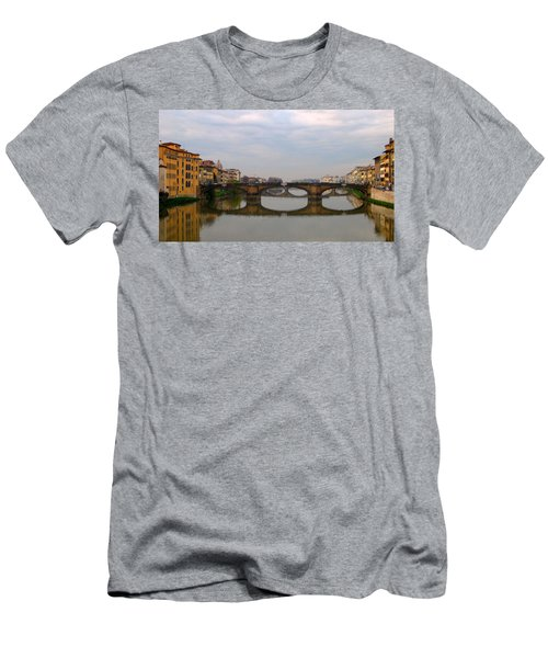 Florence Italy Bridge Men's T-Shirt (Athletic Fit)