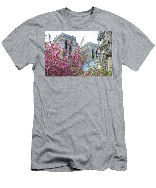 Men's T-Shirt (Slim Fit) featuring the photograph Flowering Notre Dame by Jennifer Ancker