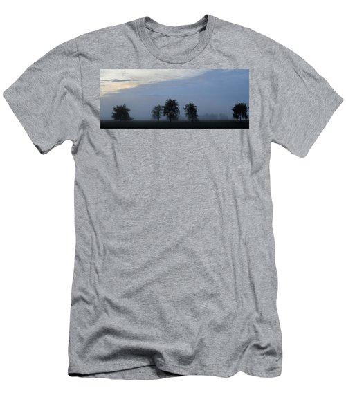 Foggy Pennsylvania Treeline Men's T-Shirt (Athletic Fit)