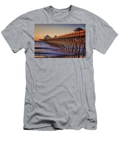 Folly Beach Pier Men's T-Shirt (Athletic Fit)