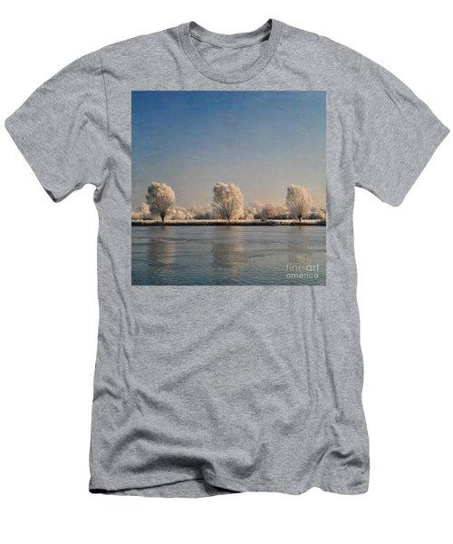 Frozen Lake Men's T-Shirt (Slim Fit) by Lyn Randle