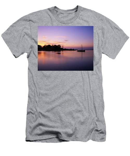 Galway Bay, Co Galway, Ireland Sunset Men's T-Shirt (Athletic Fit)