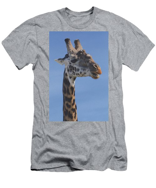 Giraffe Headshot Men's T-Shirt (Athletic Fit)