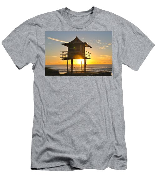 Men's T-Shirt (Slim Fit) featuring the photograph Gold Coast Life Guard Tower by Eric Tressler