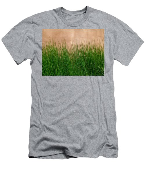 Men's T-Shirt (Slim Fit) featuring the photograph Grass And Stucco by David Pantuso