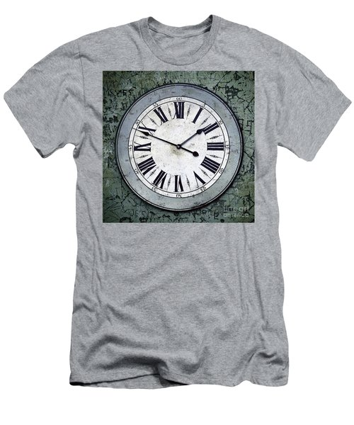 Grungy Clock Men's T-Shirt (Athletic Fit)