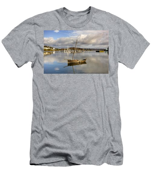 Harbour In Tarbert Scotland, Uk Men's T-Shirt (Athletic Fit)