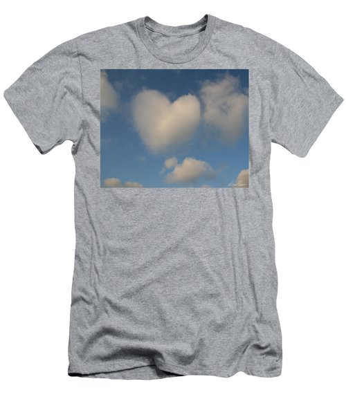 Heart In The Clouds Men's T-Shirt (Athletic Fit)