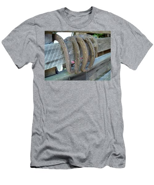 Horse Shoes Men's T-Shirt (Athletic Fit)