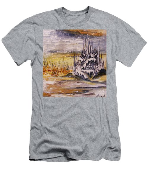 Ice Castle Men's T-Shirt (Slim Fit) by Karen  Ferrand Carroll