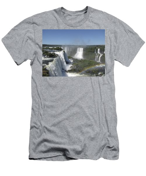 Men's T-Shirt (Slim Fit) featuring the photograph Iguazu Falls by David Gleeson