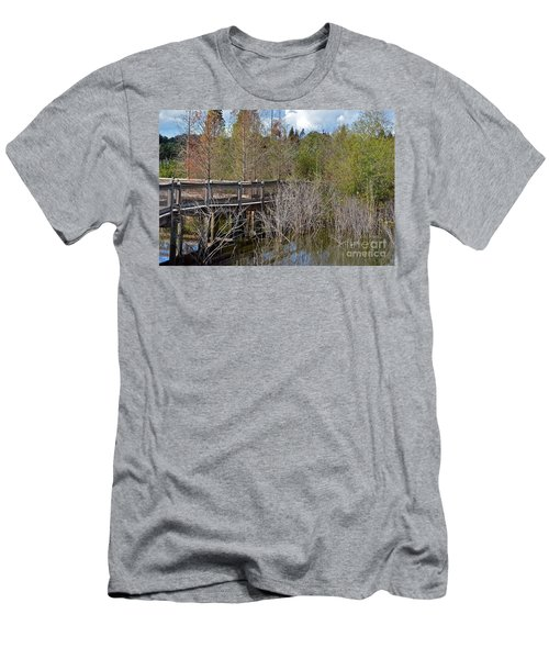 Lake Bonny Boardwalk Men's T-Shirt (Slim Fit) by Carol  Bradley