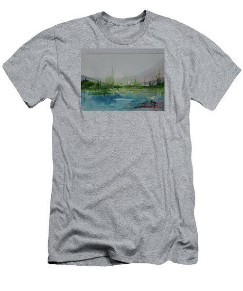 Lake Study 3 Men's T-Shirt (Slim Fit) by Robin Miller-Bookhout