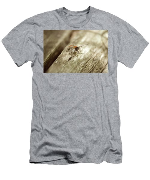 Men's T-Shirt (Slim Fit) featuring the photograph Little Jumper In Sepia by JD Grimes
