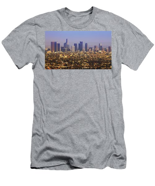 Los Angeles From Above Cartoony Men's T-Shirt (Athletic Fit)
