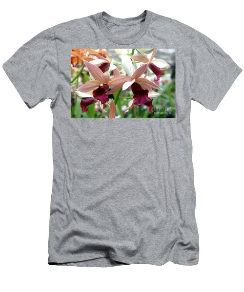 Men's T-Shirt (Slim Fit) featuring the photograph Maroon Bloom by Debbie Hart