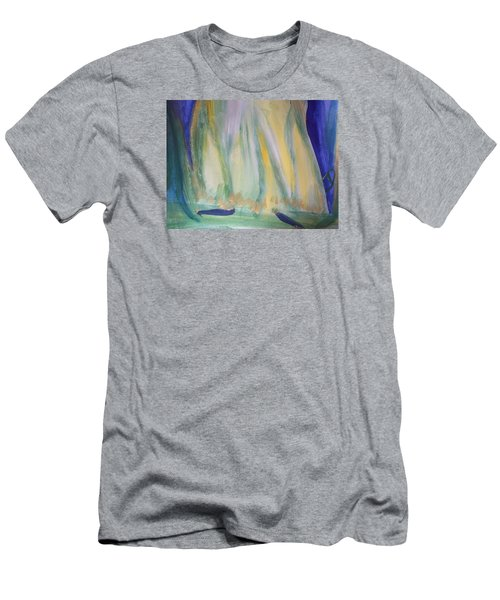 Men's T-Shirt (Slim Fit) featuring the painting Medieval Dance by Judith Desrosiers