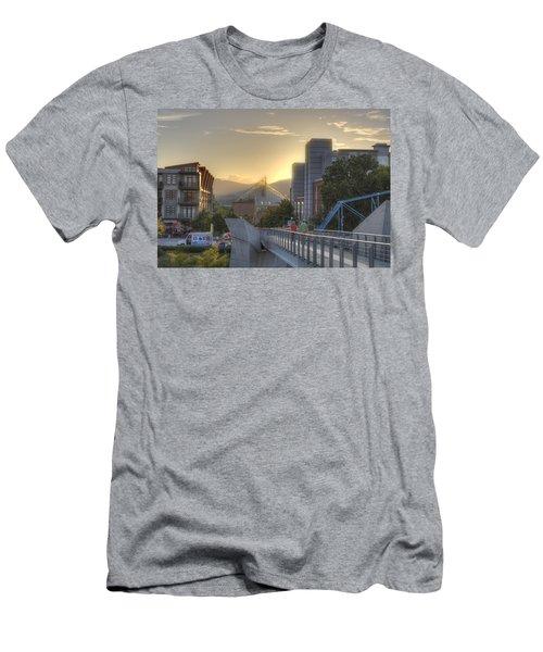 Meeting Bridges Men's T-Shirt (Athletic Fit)