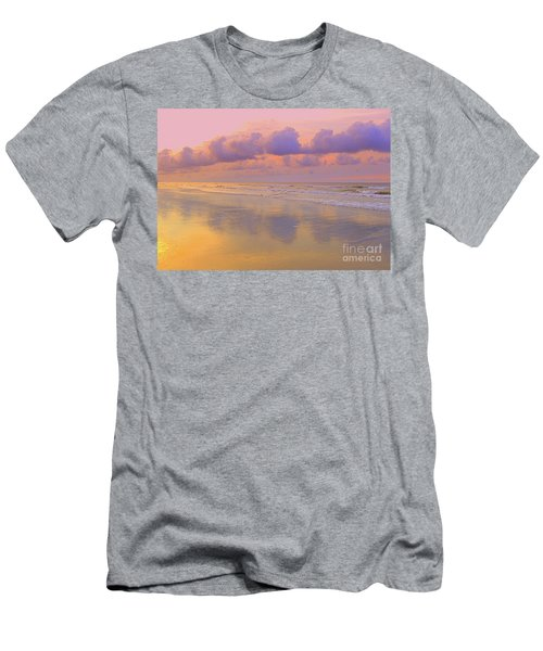 Men's T-Shirt (Slim Fit) featuring the photograph Morning On The Beach  by Lydia Holly