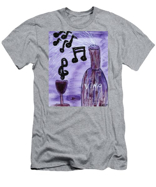 Music In My Glass Men's T-Shirt (Athletic Fit)