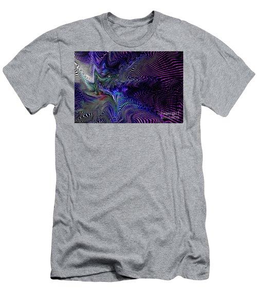 Men's T-Shirt (Slim Fit) featuring the digital art Neon Zebra by Greg Moores