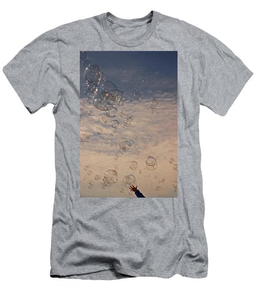 Never Give Up Men's T-Shirt (Slim Fit) by Jeannette Hunt