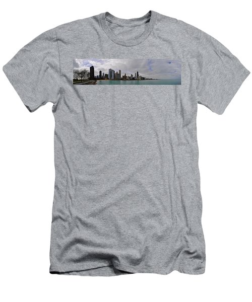 Men's T-Shirt (Slim Fit) featuring the photograph North Of Navy Pier From The Series Chicago Skyline by Verana Stark