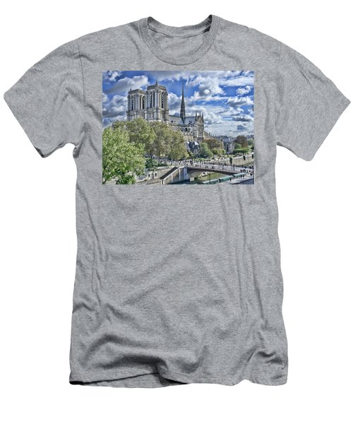 Men's T-Shirt (Slim Fit) featuring the photograph Notre Dame by Hugh Smith