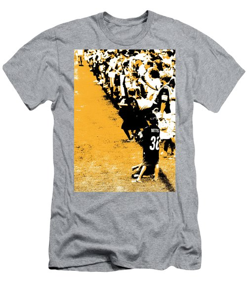 Number 1 Bettis Fan - Black And Gold Men's T-Shirt (Athletic Fit)