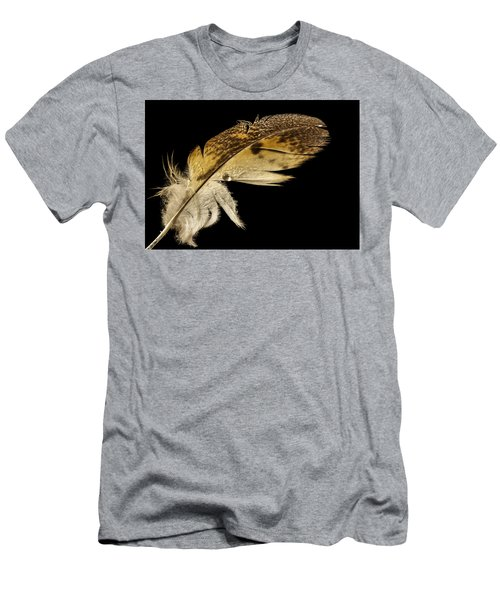 Owl Feather With Water Men's T-Shirt (Athletic Fit)