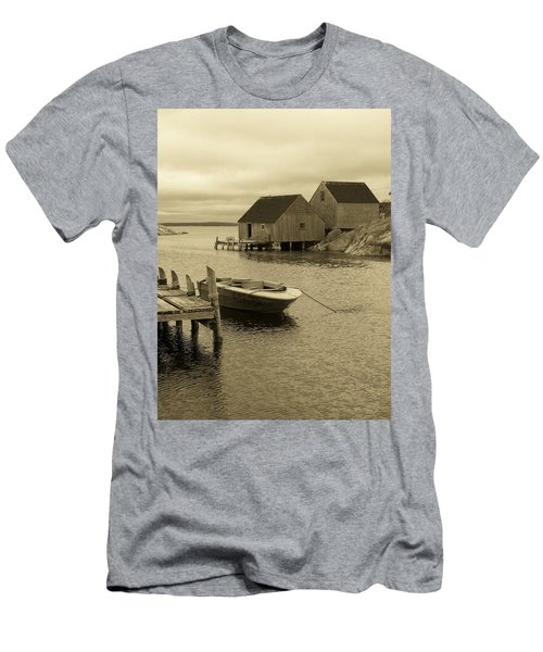 Peggys Cove In Sepia Men's T-Shirt (Slim Fit) by Richard Bryce and Family
