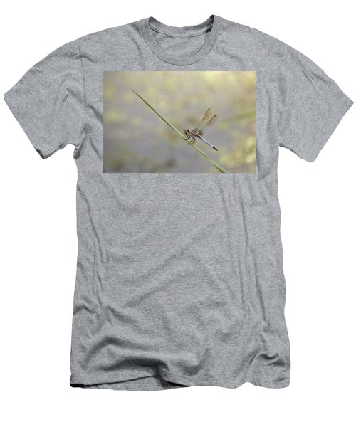 Men's T-Shirt (Slim Fit) featuring the photograph Perched Dragon In Sepia by JD Grimes