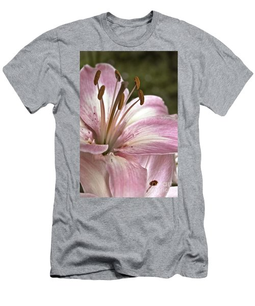 Pink Asiatic Lily Men's T-Shirt (Athletic Fit)