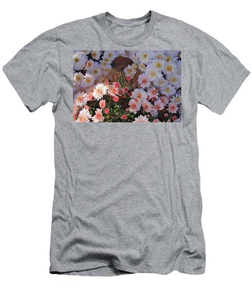 Men's T-Shirt (Slim Fit) featuring the photograph Pink Mum by Joseph Yarbrough