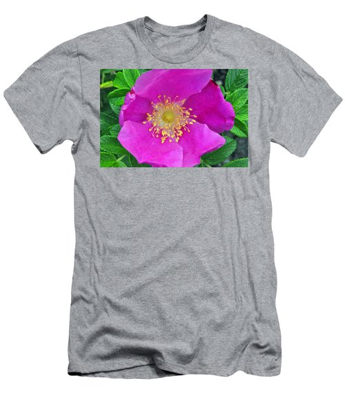 Men's T-Shirt (Slim Fit) featuring the photograph Pink Portulaca by Tikvah's Hope