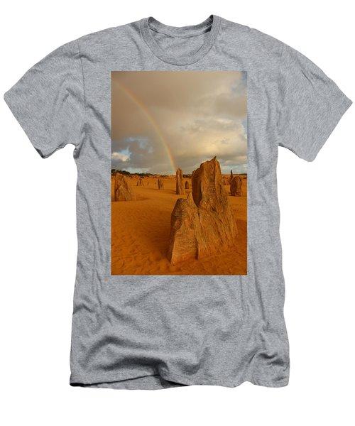 Pinnacle Rainbow Men's T-Shirt (Athletic Fit)