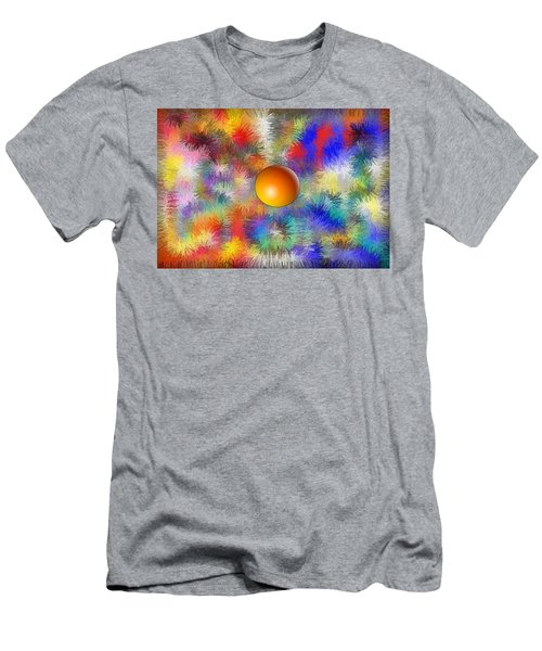 Men's T-Shirt (Slim Fit) featuring the digital art Planet Stand Out by Alec Drake