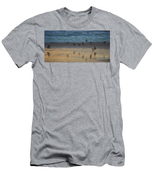 Plovers At Play On A Stormy Morning Men's T-Shirt (Athletic Fit)