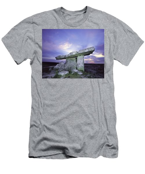 Poulnabrone Dolmen, The Burren, Co Men's T-Shirt (Athletic Fit)
