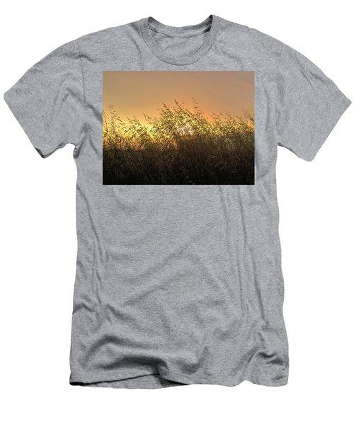 Prairie Dusk Men's T-Shirt (Slim Fit) by Leanna Lomanski