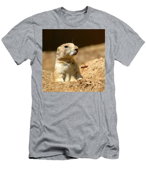 Prarie Dog Bee Alert Men's T-Shirt (Athletic Fit)