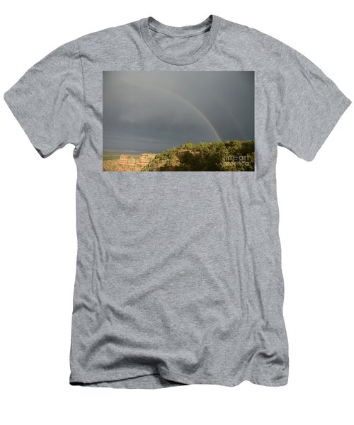 Rainbow At Grand Canyon Men's T-Shirt (Athletic Fit)