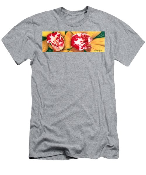 Red White And Yellow Men's T-Shirt (Athletic Fit)