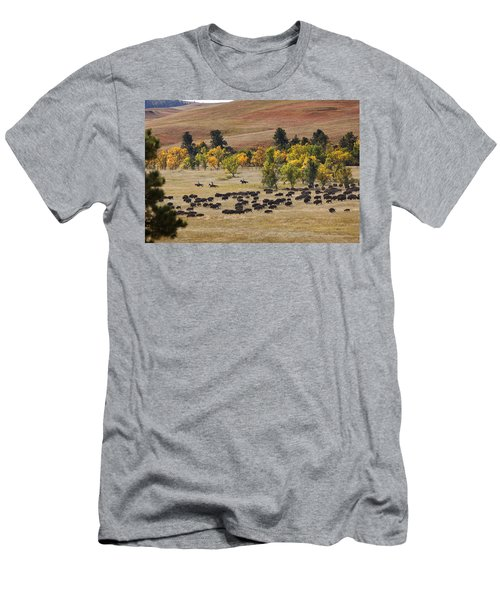 Riders Turning The Herd Men's T-Shirt (Athletic Fit)