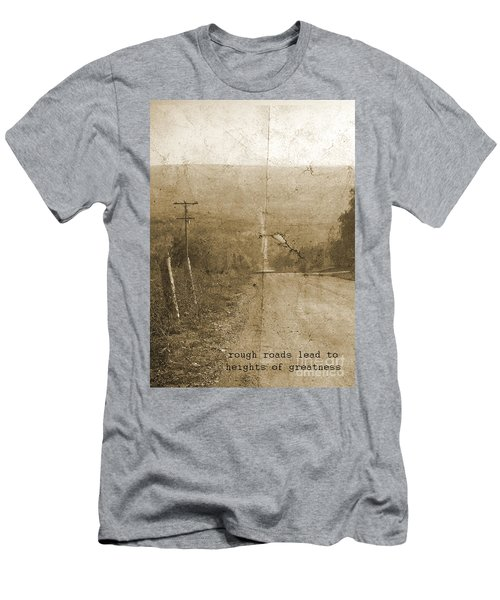 Road Not Traveled  Men's T-Shirt (Athletic Fit)