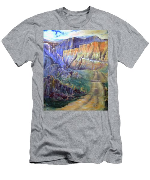 Road To Rainbow Gulch Men's T-Shirt (Slim Fit) by Gertrude Palmer