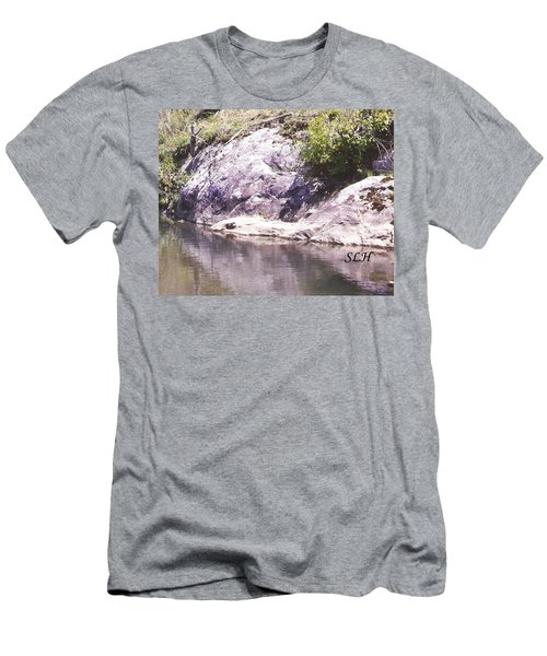 Rocks On The Bank Men's T-Shirt (Athletic Fit)